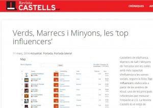 Revista Castells en topinfluencers