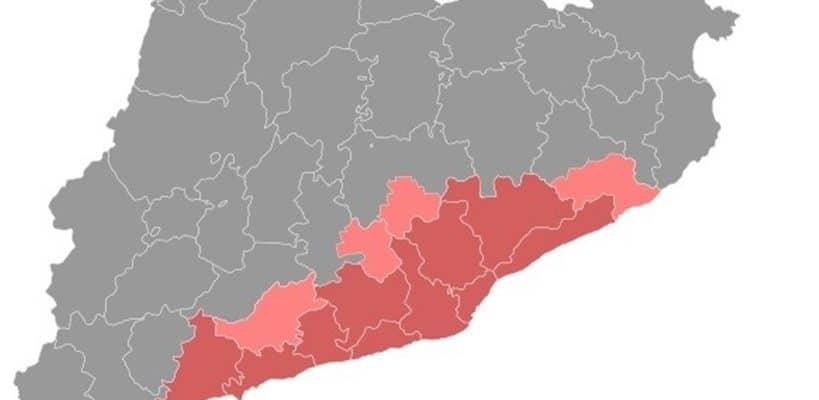 Tabarnia. Mapa geográfico