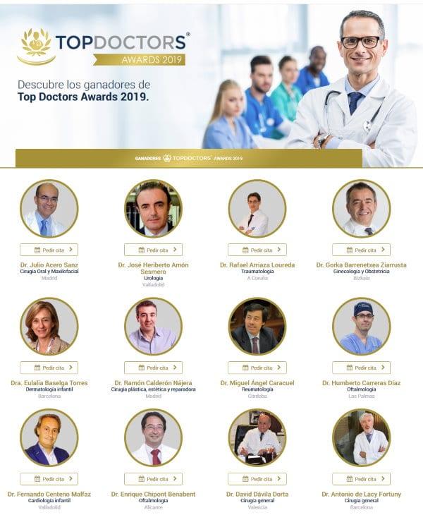 Premios Top Doctors 2019. Mejores médicos de España