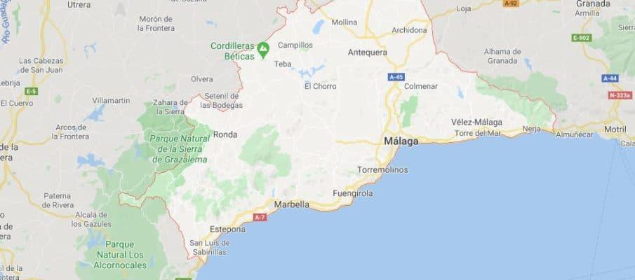 Provincia de Málaga. Andalucía