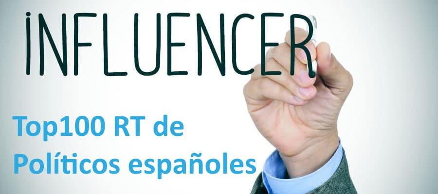top100 RT de políticos españoles en Twitter
