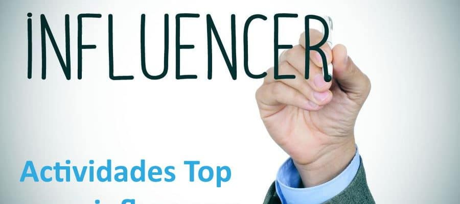 Actividades e influencers TOP. Imagen de actividades Top